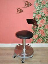 vintage Bürostuhl Drehstuhl Drehfuß Medizinerstuhl ADMI schwarz Design Klassiker