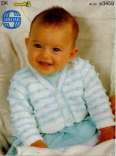 """Sirdar 3459 Vintage Baby Knitting Pattern Cardigan DK 16-20"""" 0 - 12 months"""