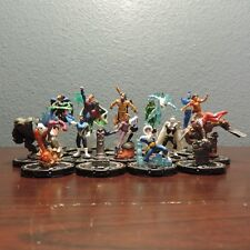 Heroclix Collateral Damage Set of 19 Limited Edition Gold Ring Figures Near Mint