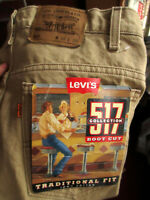 38x30 NEW NWT True Vtg 80s Levis 517 Bootcut Flare KHAKI Denim Jeans MADE IN USA