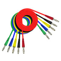 5 Pcs / Colors 4mm Banana to Banana Plug Probe Test Cable 1M for Multimeter