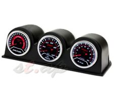 "2""Inch Air Fuel+Rpm+Oil Pressure Gauge+ 3X Port Triple Pod Holder Tachometer Jdm"