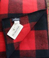 Pendleton Wool Blanket NWT Twin Sz Washable Red Rob Roy Tartan Plaid Made In USA