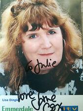 6x4 Hand Signed Photo of Emmerdales Lisa Dingle - Jane Cox