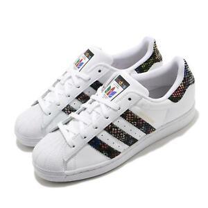 adidas Originals Superstar W Floral Twist Stripe White Black Multi Women FW3692