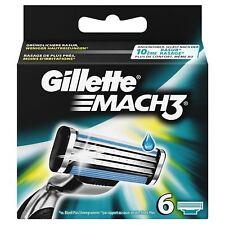 6 x Gillette Mach3 Rasierklingen 6er Pack Ersatzklingen - NEU & OVP
