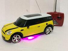 MINI COOPER RADIO REMOTE CONTROL RC LED HEADLIGHTS CAR 1:20 FOR BOYS & GIRLS