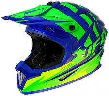 UFO Spectra Solidus Motocross MX Enduro Helmet- Large 59-60cm Blue Flou Green