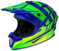 UFO Spectra Solidus Motocross MX Enduro Casco Grande 59-60cm Azul Flou Verde