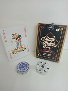 Giant Poker Cards The Biggest Card Game of your life and Poker Chips