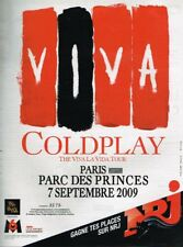 A- Publicité Advertising 2009 Concert Coldplay Parc des Princes