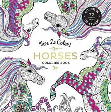 Vive Le Color! Horses (Adult Coloring Book): Color In; De-stress (72 Tear-out Pa
