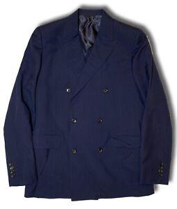 $2,000 Bally Navy Silk and Cotton Blazer Size US 44, EU 54 Made in Italy