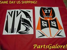 Orange Decal Set 50cc 70cc 90cc 110cc 125 Dirt Pit Motocross Bike Motorcycle