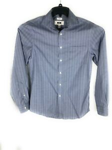 Joseph Abboud Non-Iron Gray Slim Long Sleeve Button Up Shirt 15-1/2 34/35 A25
