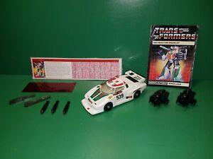 Wheeljack 1985 Vintage G1 Transformers Hasbro w/ Tech Spec & Instructions Book