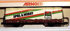 "Modelleisenbahn Spur N Arnold # 4478 Planwagen ""Spiel & Hobby"" Sondermodell 1983"