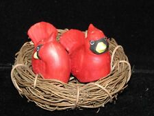 Salt and Pepper Shakers Cardinals in Nest 3 pcs Set