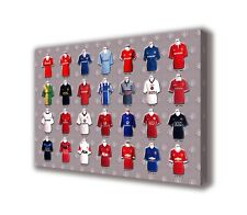 "Manchester United - Shirts - Wall Canvas 25""x16"" (63x40cm)"