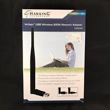 Hawking Technology Hi Gain USB Wireless 300N Network Adapter PC Mac Model HWUN4