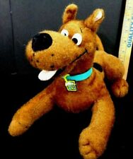 "Scooby Doo laying down Shiny Fur collar Plush Stuffed Animal Toy Factory 10"" L"