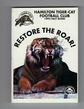 1992 Hamitlton Tiger Cats Fact Book  Media Guide Fact Book CFL