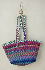 Weave Tote Bag House of Peru blue pink Wild Palm New