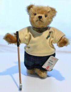 Hermann Golfer Teddy Bear Limited Edition Retired & Tagged
