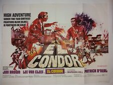 EL CONDOR ORIGINAL UK QUAD FILM POSTER 1970
