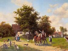 Antikes Ölgemälde Ölbild Gemälde Bild Maler Lorenz Scharl aus Nachlass Sammlung