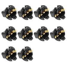 10x Instrument Panel Bulbs Twist Locks T10 194 Socket 5/8 Inch Dashboard