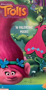 Trolls Birthday Party Favors Poppy Masks Dreamworks 16 Count