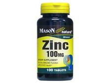 100 TABLETS  ZINC 100 mg Immune Function & Prostate health