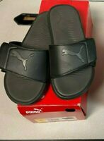 PUMA Mens Starcat Tech Slide Sandals - Men's Slides - Black/Asphalt  Pick Cond