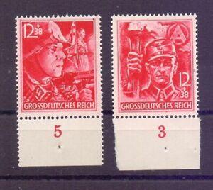 Deutsches Reich 1945 - Die beiden letzten Marken 909/910 - Michel 80,00 € (699)
