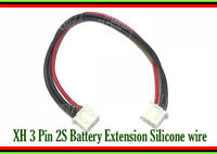 JST-XH 2.5mm 3-Pin Female end for RC Battery Balancing 22AWG Silicone Cable x 2