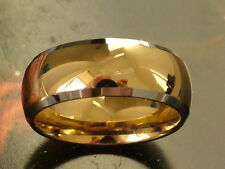 Gold Tungsten Ring, Wedding Band, Men's Women Jewelry, Promise Ring