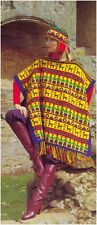 Ladies' DK Peruvian Motifs Poncho and Helmet Vintage Knitting Pattern 10011