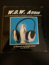 """W.O.W. Audio"" RF Wireless FM Headphone System"