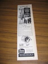 1960 Print Ad Penn 12/o Senator Fishing Reels Record Pacific Blue Marlin