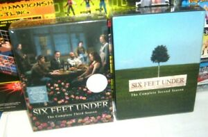 Lot of 2 HBO SERIES SIX FEET UNDER COMPLETE Second & Third Season DVD Set new