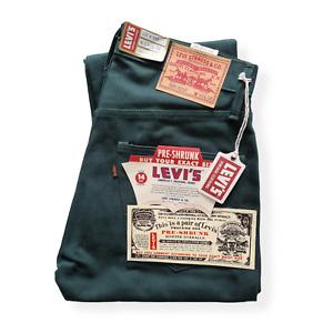 NWT LVC Levi's Vintage Clothing 1967 505 Green Denim 14oz W33L32 Selvedge Big E