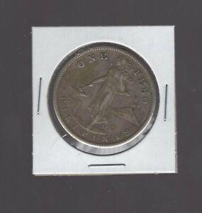 1908-S Philippines U.S. One Peso Filipinas Silver Coin United States
