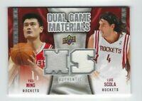 2009-10 Upper Deck Yao Ming & Luis Scola DUAL Jersey Card, Rockets!