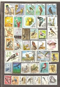 Birds: selection of 39 various used stamps, different countries/ years, Lot 2