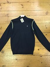 Duck And Cover Tarly Zip Neck Jumper/classic Navy/size M