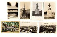 (6) Vintage RPPC (B&W) + (1) Linen PC - Views of Massachusetts [1-46