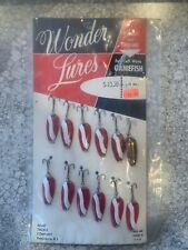 Vintage Acme Wonderlures Full Dealer Display Card Red White