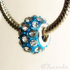 1PC Turquoise Blue Crystal Bead - Large Hole Beads For European Charm Bracelets