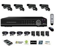 CCTV DVR Système de surveillance H.264, Caméra Sécurité Etanche Jour Nuit Led IR